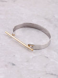 Two Tone Bar Bracelet Anarchy Street Gold