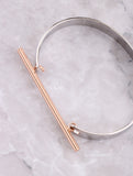 Two Tone Bar Bracelet Anarchy Street Rosegold - Details