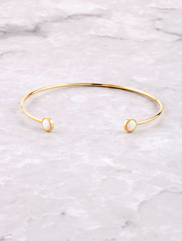 Halographic Dot Cuff Bracelet Anarchy Street Gold