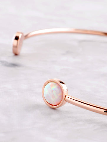 Halographic Dot Cuff Bracelet Anarchy Street Rosegold - Details