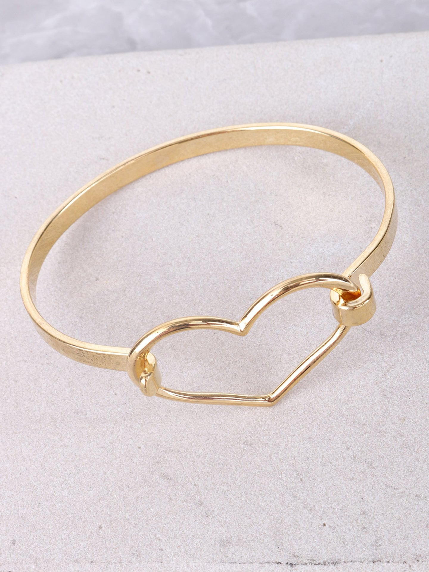 Open Heart Bracelet Anarchy Street Gold