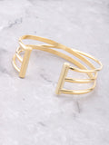 Triple Parallel Bar Bracelet Anarchy Street Gold