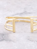 Triple Parallel Bar Bracelet Anarchy Street Gold - Details