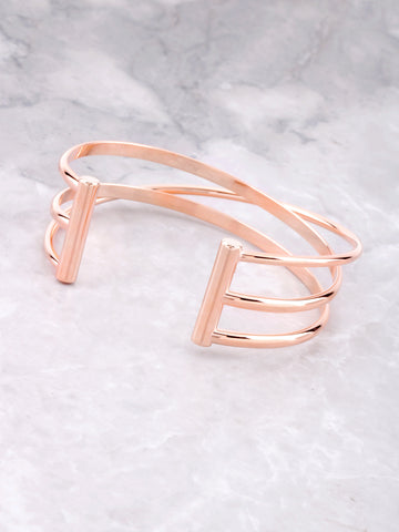 Triple Parallel Bar Bracelet Anarchy Street Rosegold
