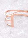 Triple Parallel Bar Bracelet Anarchy Street Rosegold - Details