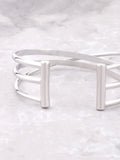 Triple Parallel Bar Bracelet Anarchy Street Silver - Details