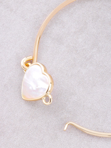 Glazed Heart Bracelet Anarchy Street Gold - Details