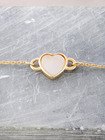 Glazed Heart Chain Bracelet Anarchy Street Gold - Details
