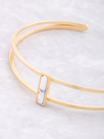 Marble Bar Cuff Bracelet Anarchy Street White