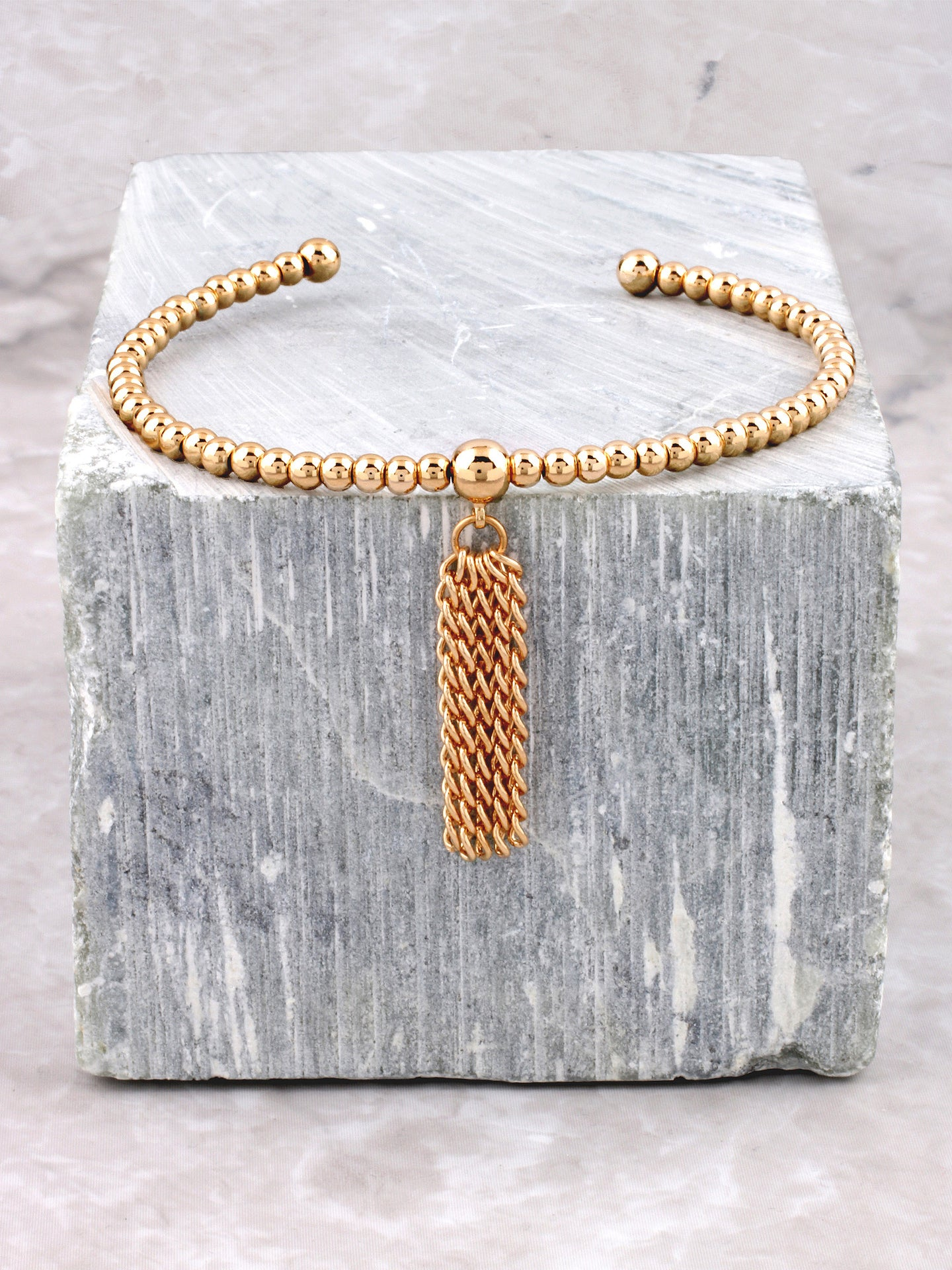 Tassel Bubble Bracelet Anarchy Street Gold
