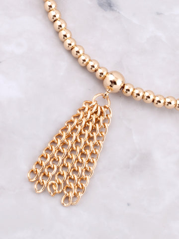 Tassel Bubble Bracelet Anarchy Street Gold - Details