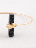 Wrapped Marble Block Cuff Bracelet