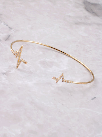 Broken Pulse Pave Cuff Bracelet Anarchy Street Gold