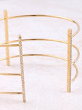 Triple Pave Bar Cuff Bracelet Anarchy Street Gold - Details