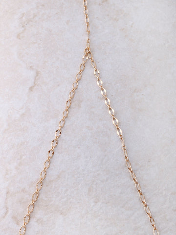 Dainty Cage Bra Chain Anarchy Street Gold - Details