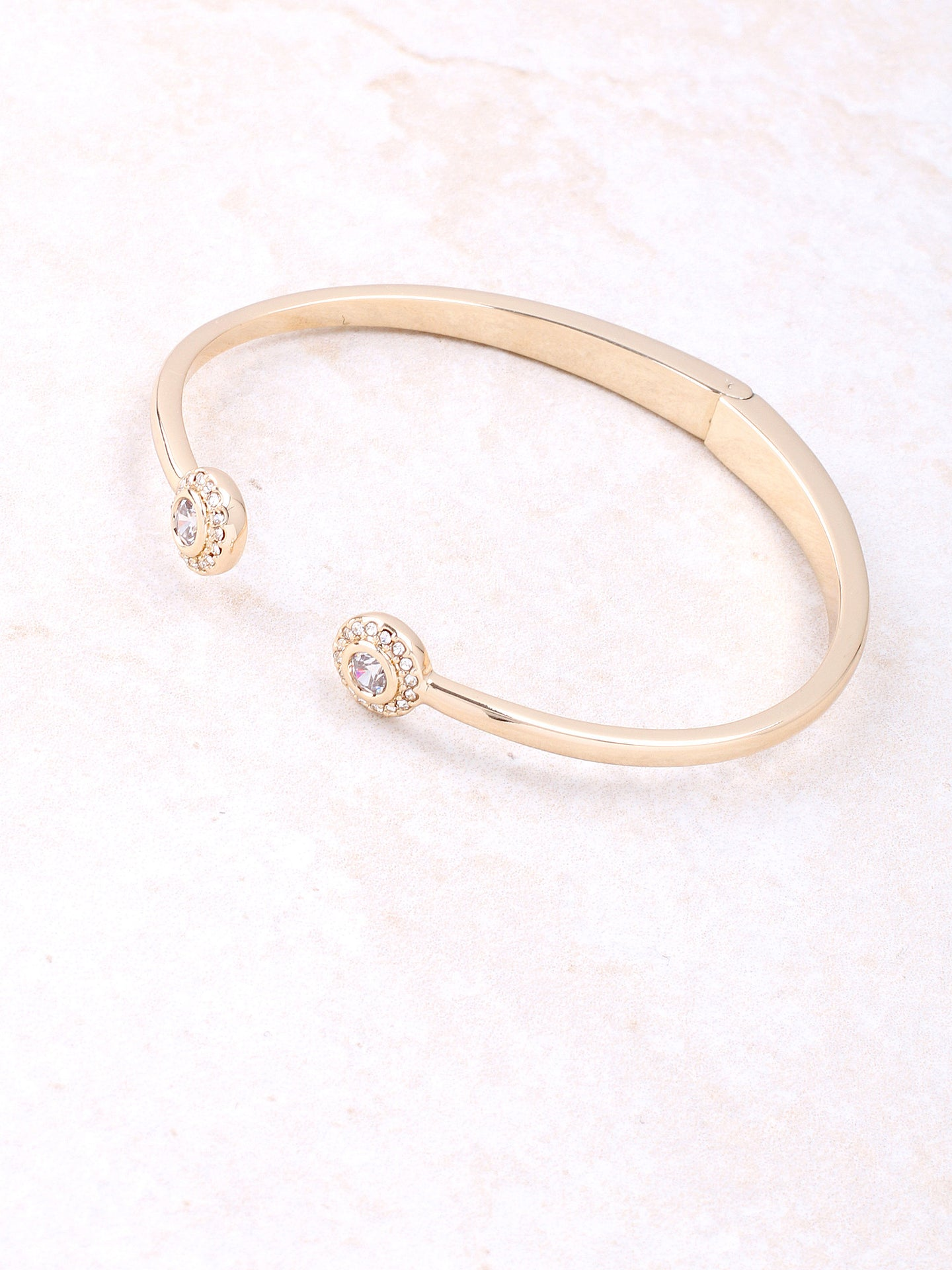 Twin Solitaire Cuff Bracelet