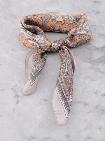 Paisley Silk Scarf Anarchy Street Gray - Details 2