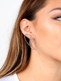 Curved Up Earring