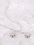 Starburst Dangle Threader Earrings Anarchy Street Silver - Details