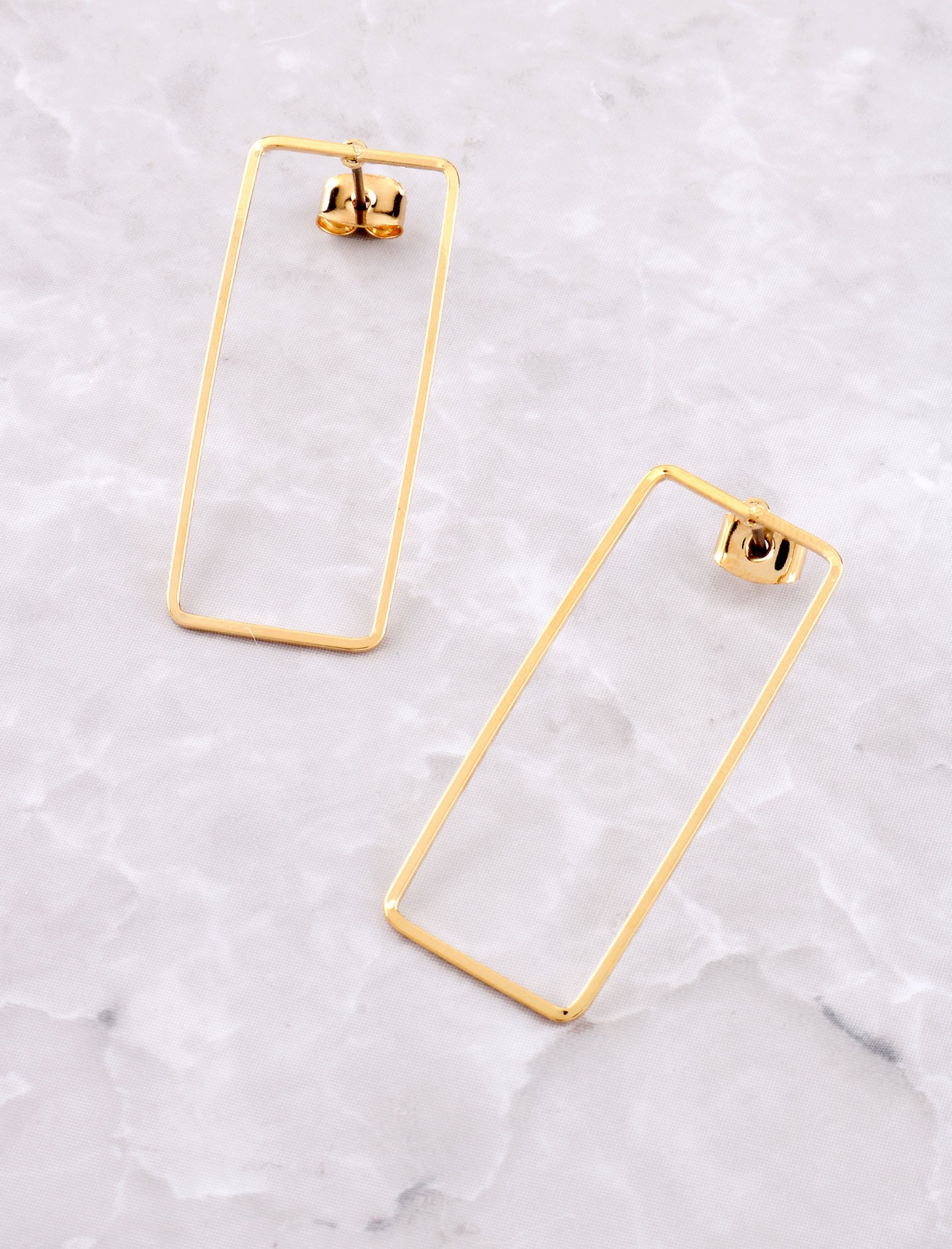 Block Earring Anarchy Street Gold