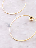 Hanging Loop Earring Anarchy Street Gold - Details