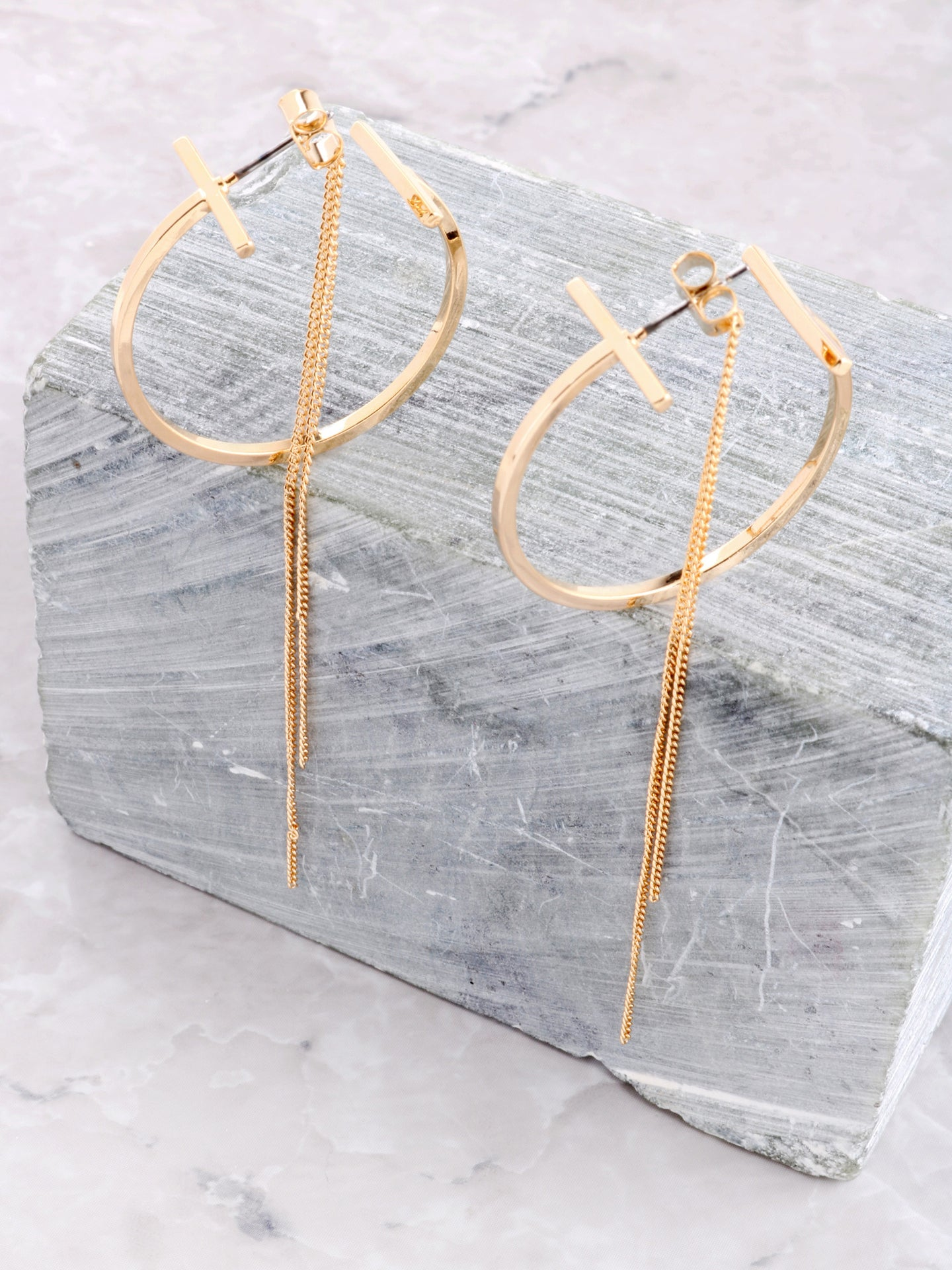 Parallel Double Sided Earring Anarchy Street Gold