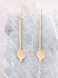Matte Button Bar Earrings Anarchy Street Gold