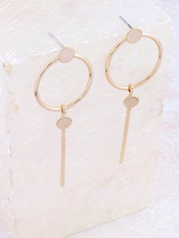 Infinite Bar Earring Anarchy Street Gold