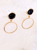 Marble Circle Earring Anarchy Street Black