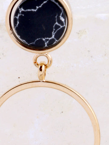 Marble Circle Earring Anarchy Street Black - Details