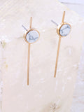 Marble Bar Earring Anarchy Street White