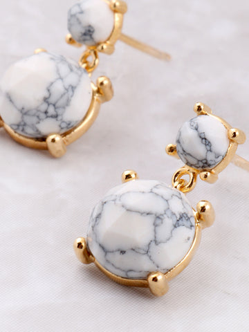 Marble Bar Earring Anarchy Street White - Details