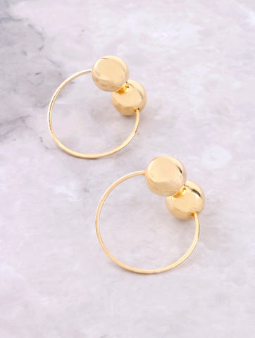 Clip On Sphere Earrings Anarchy Street Gold
