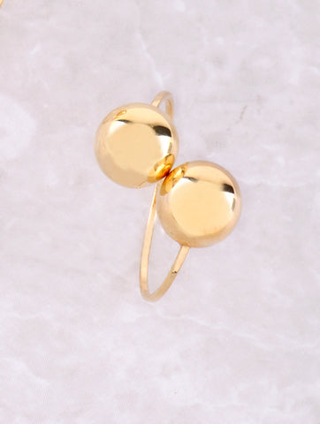 Clip On Sphere Earrings Anarchy Street Gold - Details