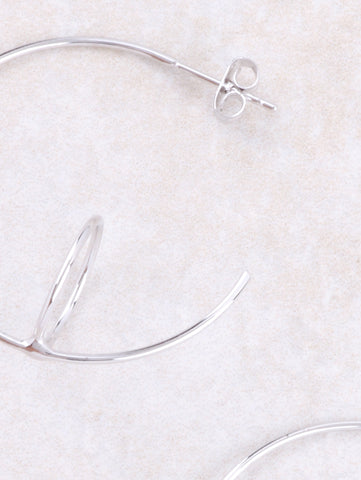 Circle Hook Earrings Anarchy Street Silver - Details
