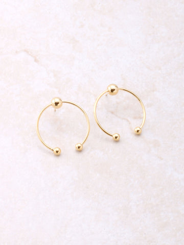 Three Dots Earring Anarchy Street Gold