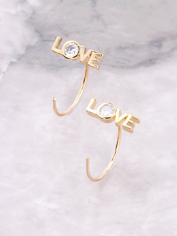 Love Peek-A-Boo Earring Anarchy Street Gold