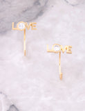 Love Peek-A-Boo Earring Anarchy Street Gold - Details