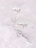 Love Peek-A-Boo Earring Anarchy Street Silver