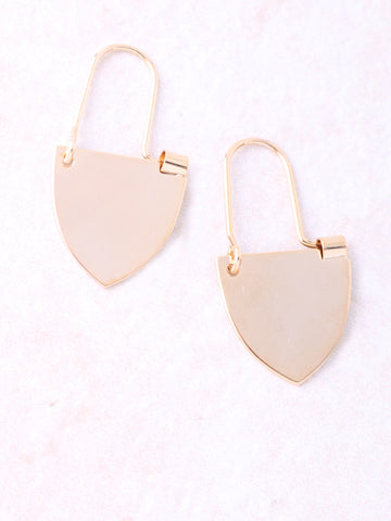 Crest Dangle Earring Anarchy Street Gold