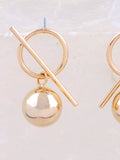 Bar Ball Earrings Anarchy Street Gold - Details