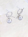 Bar Ball Earrings Anarchy Street Silver