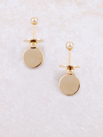 Flat Disk Earring Anarchy Street Gold