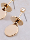Flat Disk Earring Anarchy Street Gold - Details