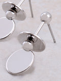 Flat Disk Earring Anarchy Street Silver - Details