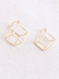 Hollow Cubed Earring Anarchy Street Gold - Details