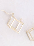 Hollow Cubed Earring Anarchy Street Gold -1 Details