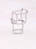Hollow Cubed Earring Anarchy Street Silver
