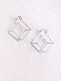 Hollow Cubed Earring Anarchy Street Silver - Details