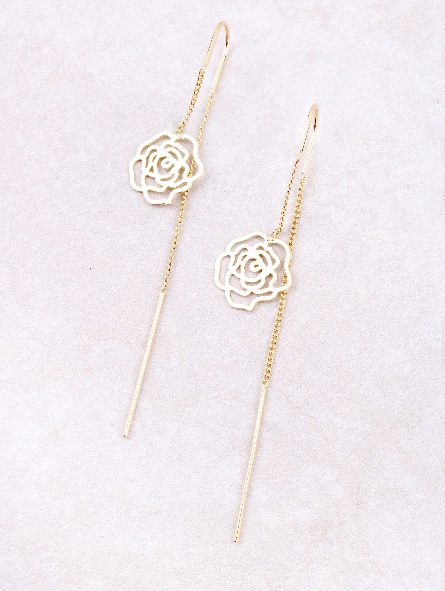 Rose Dangle Earring Anarchy Street Gold